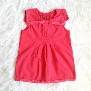 Gymboree Girls Coral Pink Sailor Collar Blouse